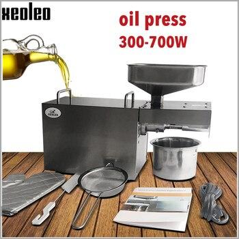 цена на XEOLEO Oil press machine Oil presser Stainless steel Cold and Hot Peanut oil maker Home uitable for Almond/Olive/Sesame 220/110V