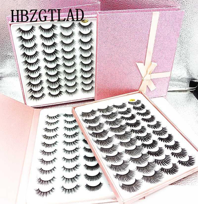 1/20 pares de pestañas de visón de imitación 3D pestañas postizas largas naturales gruesas y falsas pestañas de maquillaje