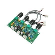 Tablero de preamplificación de tono XH-A901 NE5532 con ajuste de volumen de graves agudos controlador de tono preamplificador para placa de amplificador
