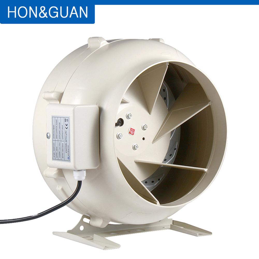 280W Round Inline Duct Centrifugal Fan Circular Exhaust Fan Hydroponic Air Blower for Grow Room Home Ventilation; 4 to 12.5 Inch