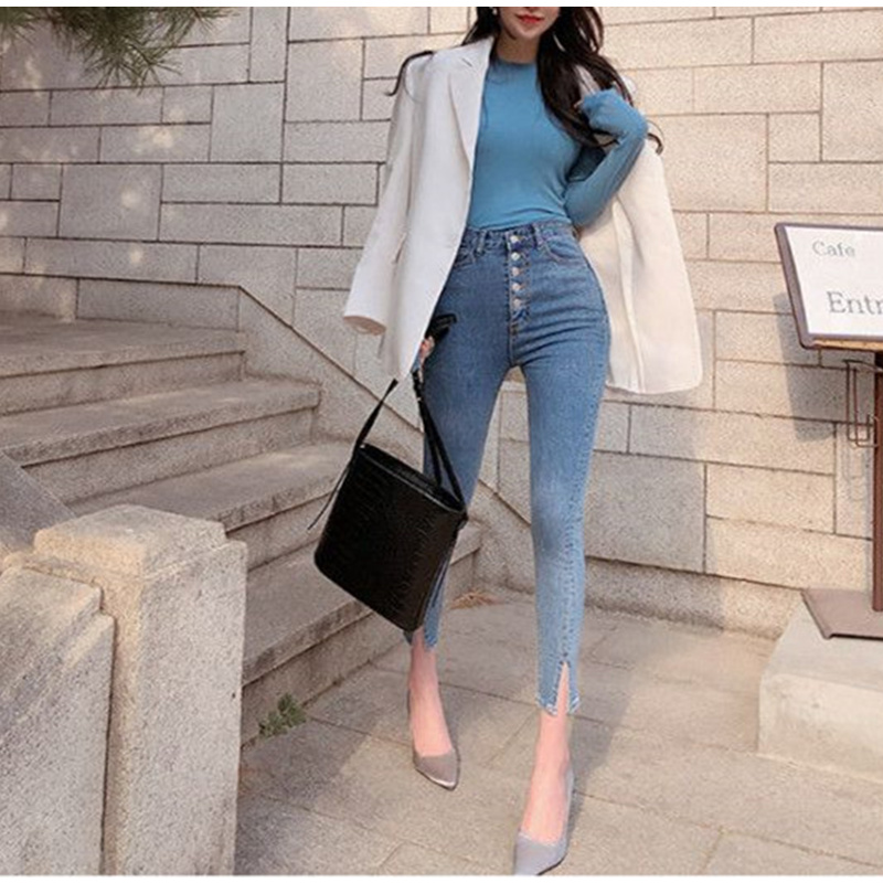 Women Push Up Jeans Skinny Button Zipper Clothing New Fashion Sexy Female Summer Autumn Winter Jeans Pencil Pants