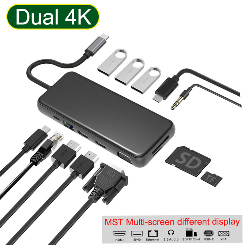 USB HUB To Multi USB 3.0 HDMI Adapter Dock For MacBook Pro Accessories Type C 3.1 Splitter 3 Port NGFF SSD CASE HDD Enclosure