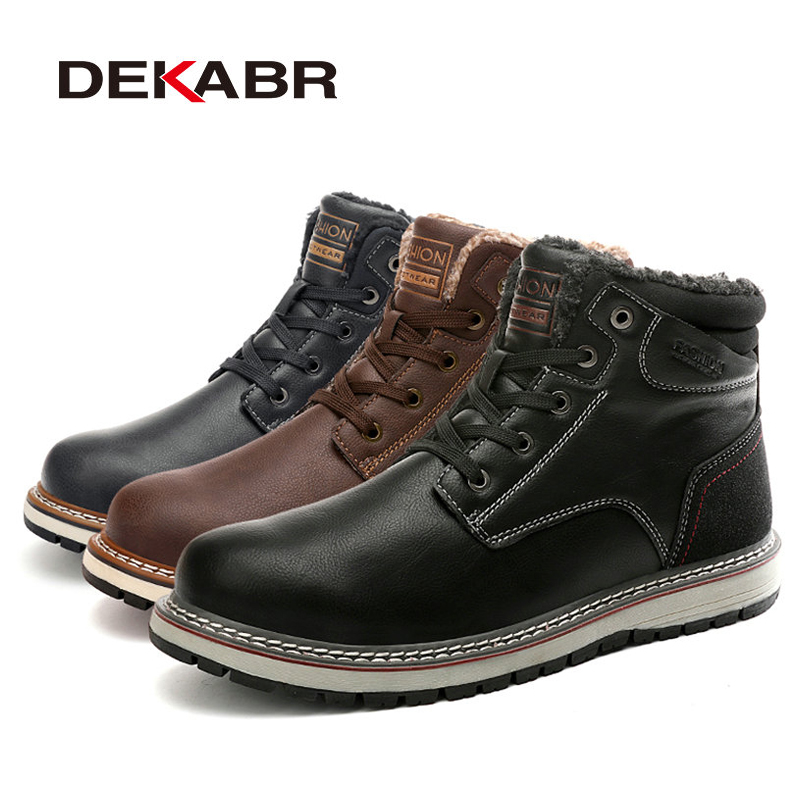 DEKABR 2021 New Snow Boots Protective and Wear-resistant Sole Man Boots Warm and Comfortable Winter Walking Boots Big Size 39-46 5
