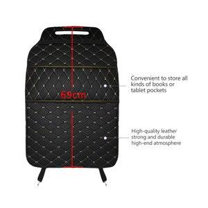 Image 4 - רכב מושב אחסון תיק PU שחור מיקרופייבר עור רכב מושב נגד בעיטת pad אוניברסלי רכב פנים עבור טויוטה KIA לאדה פורד יונדאי