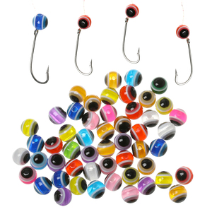 25 PCs/Set 4mm 5mm 6mm 8mm Colorful Artificial Fish Eye Beads DIY Kit Bass Lure Outdoor Fly Tying Material Tackle