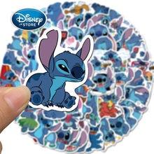50 sztuk/zestaw Disney Lilo i Stitch Anime naklejki Cartoon Stitch Graffiti naklejki zabawki wodoodporne Laptop deskorolka naklejki na kubki
