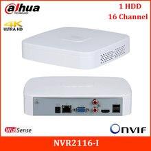 Nova dahua 4k 16ch nvr NVR2116-I inteligente h.264 h265 apoio proteção perímetro e smd inteligente 1u wizsense gravador de vídeo em rede