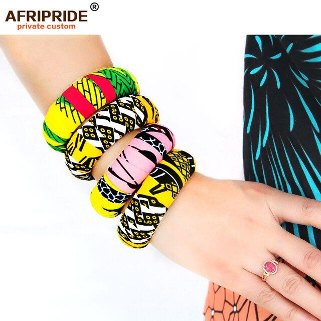 Купить деревянные браслеты с африканским принтом для женщин круглые