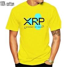 2019 New Men's Quality Ripple XRP Internet Of Value T shirt Leisure Man Short Sleeve Crewneck S-6XL Plus Size T-Shirt