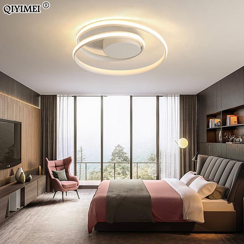 Modern Chandeliers LED Lamp For Living Room Bedroom Study Room White black color surface mounted lights Lamp Deco AC85-265V 3