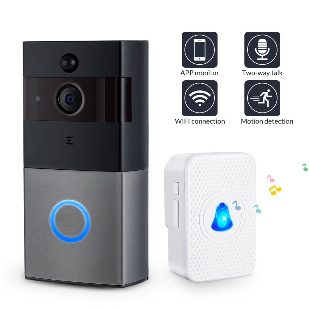 KERUI Wireless Door Bell Intercom Video Doorbell 1080P Security Camera Two-Way Audio Memory Card Smart Wifi Video Doorbell