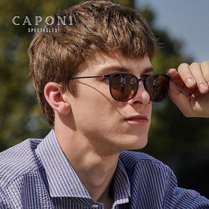 Image 4 - Очки солнцезащитные CAPONI BSYS520 мужские фотохромные, винтажные Поляризационные солнечные очки с дужками из β титана, с ночным видением