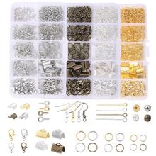 Alloy Accessories Set Jewelry findings Tools Clip buckle Lobster Clasp Open Jump Rings Earring Hook Jewelry Making Supplies Kit cheap Celadon Clasps Hooks 0inch For DIY Fashion Necklace Bracelet Earring Metal zinc Alloy 1 Set For Earring Necklace Bracelet making