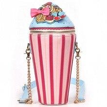 Litthing Creative Shoulder Bags Cupcake Ice Cream Shape Handbag Fashion Messenger Crossbody Bag For Teenage Girls Travel bag недорого