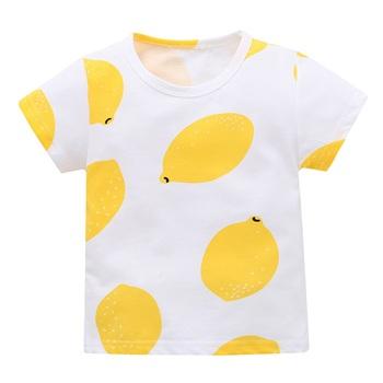 Noworodek maluch dziewczynek koszulki dla chłopców topy drukuj z krótkim rękawem swetry piękne koszulki z krótkim rękawem topy tanie i dobre opinie Emmababy Moda COTTON Cartoon O-neck Unisex