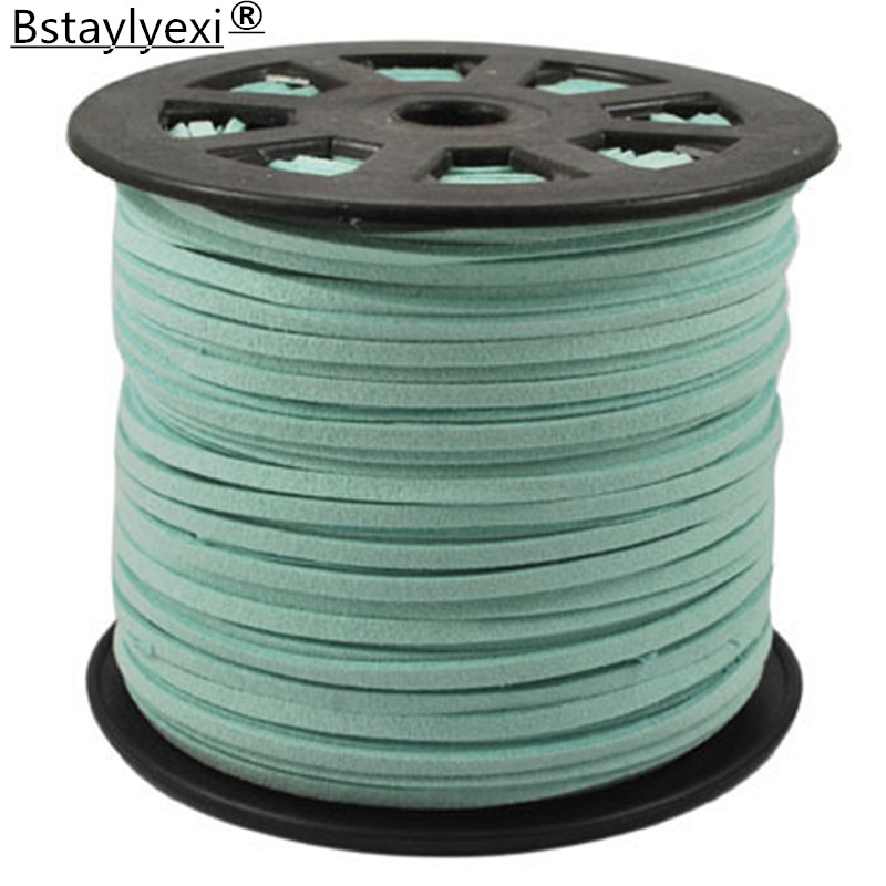 33 цвета 100 ярдов/рулон 27 мм x 1,5 мм шнуры из искусственной замши для нарезания резьбы/провода для браслета самодельные ювелирные изделия и Ком...