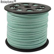 33 cores 100 jardas/rolo 27mm x 1.5mm falso camurça cabo/fio para pulseira diy jóias descobertas & componentes cabo acessórios