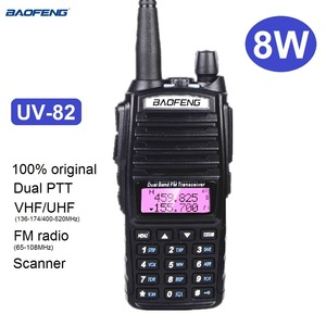 Real 8W Baofeng UV-82 Walkie Talkie Marine CB Radio Transceiver UV 82 Ham Scanner Radio Station Transmitter UV82 for Hunting