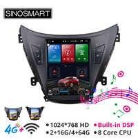 Sinosmart Tesla style car gps radio navigation player for Hyundai Elantra 2012 for Elantra MD for Avante MD 2011 2012 2013
