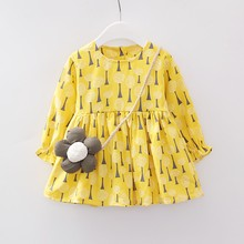 Autumn Hot Sale Casual Baby Girls Floral Pattern Long Sleeve Dress Kids Toddler Pageant Sundress Boy Clothes