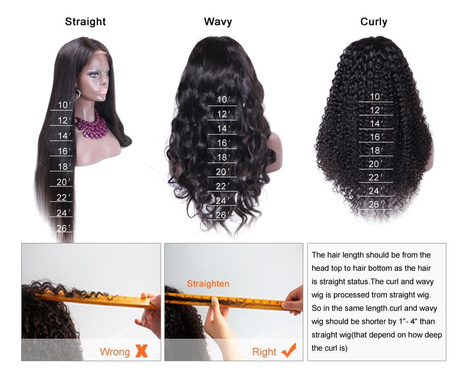 cabelo humano máquina cheia feita peruca glueless