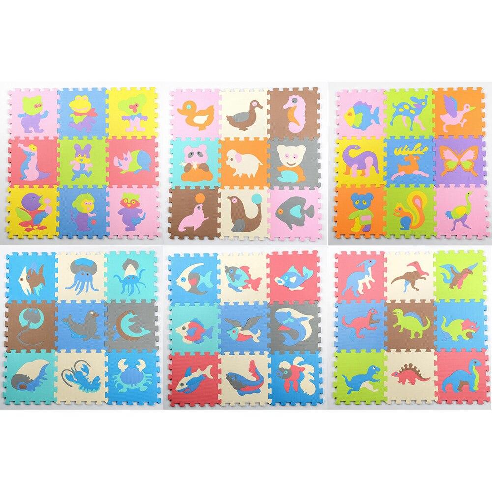 9pcs Cartoon Carpet EVA Puzzle Mat Kid Floor Puzzles Play Mat Crawling Mats J71