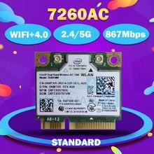 Для intel оптовая продажа Двухдиапазонная Беспроводная-AC7260 7260HMW 7260HMWAC 7260AC 867 Мбит/с + BT4.0 Половина мини PCI-e беспроводная wifi wlan карта