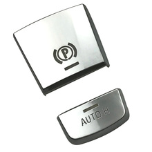 Car Styling AUTO H Button Sticker for BMW 5/6/7 Series X3 X4 X5 X6 Electronic Handbrake F25 F26 F10 F15 F16 GT F07 car styling refit accelerator oil footrest pedal plate clutch throttle brake treadle for bmw 5 5gt 6 7 series x3 x4 x5 x6 z4 lhd