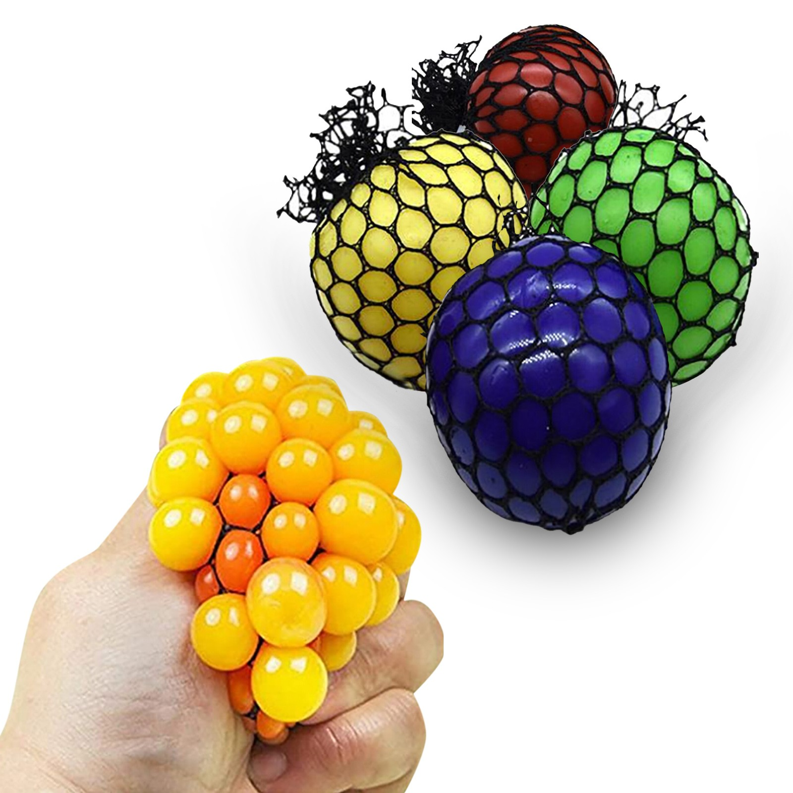 Squishy Toy Grape-Toys Mesh-Ball Squeeze-Toy Stress Anxiety Relief High-Quality LED 10ML