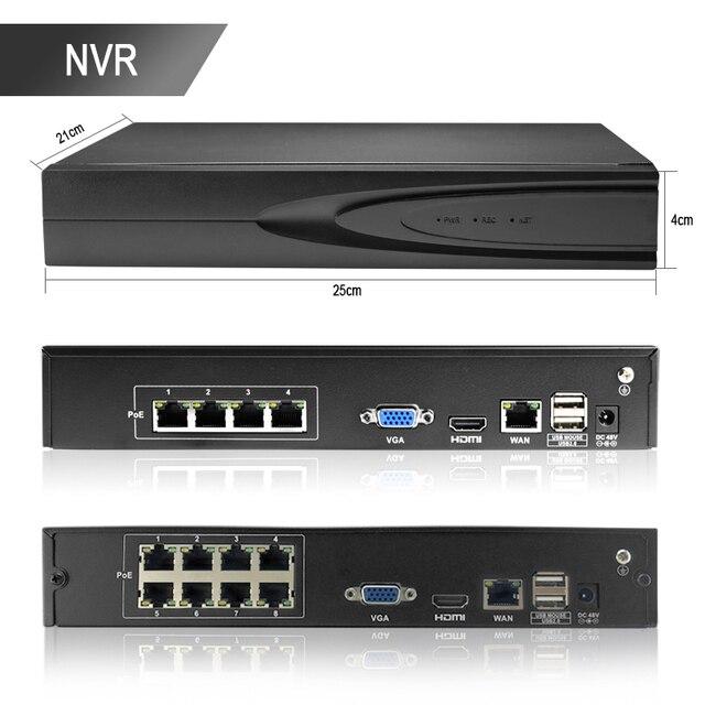 HJT Kit P2P POE système H.265 | Vidéosurveillance de sécurité 4CH NVR caméra IP dôme 5MP pour lextérieur, Surveillance vidéo
