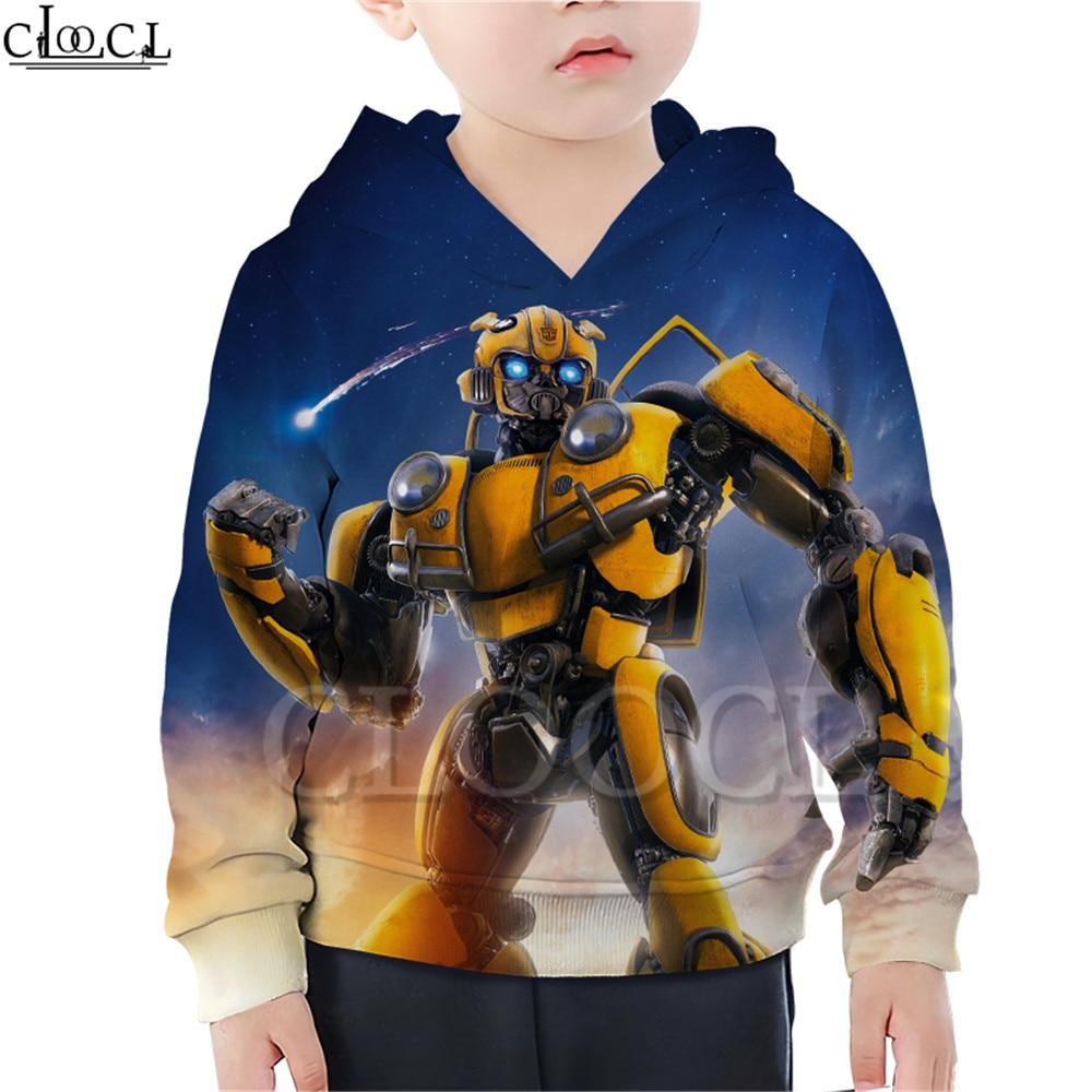 Anime Bumblebee Print T Shirts Boy Girl 3D Sweatshirt Son Daughter Superhero Baby Hoodie Harajuku Kid Shorts Set Drop Shipping