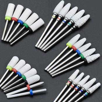 36 typ ceramiczne wiertło do paznokci z Manicure i Pedicure do elektrycznej frezarki maszyna do Manicure narzędzia do paznokci tanie i dobre opinie Timistory CN (pochodzenie) XC C M F XF Nail drill bit white nail drill pedicure dental drill manicure 3 32 (2 35mm)