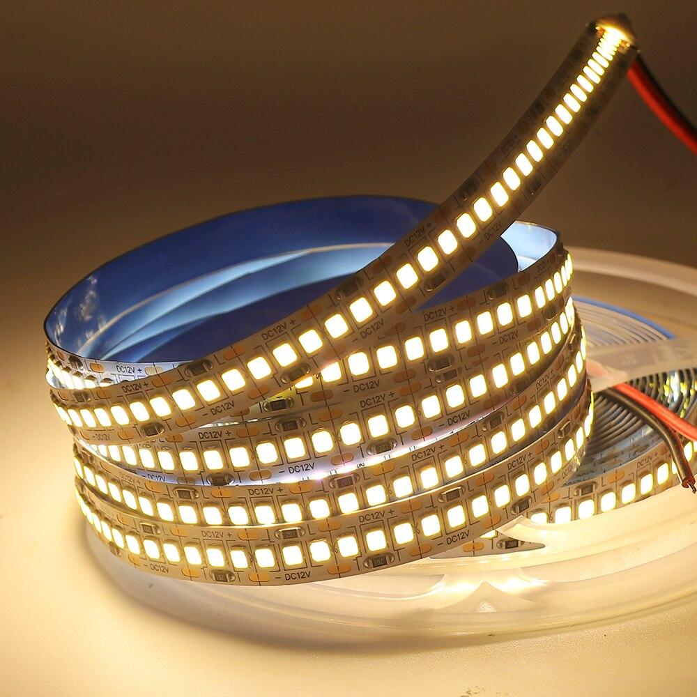 H477d1a5985b24a06af945df6c1fcc9c3E LED Strip 2835 SMD 240LEDs/m 5M 300/600/1200 Leds DC12V High Bright Flexible LED Rope Ribbon Tape Light Warm White / Cold White