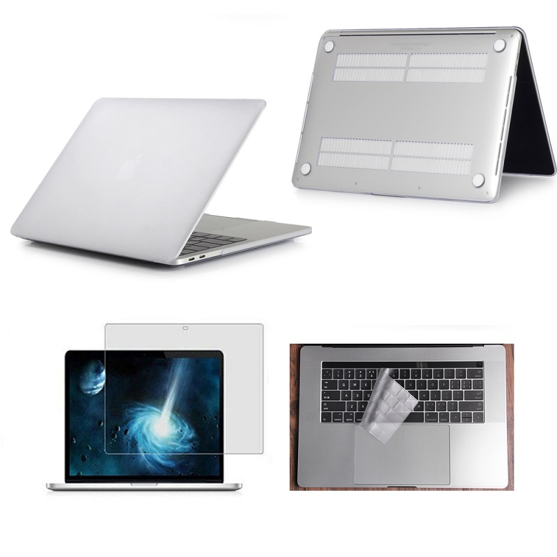 New Frosted Clear Rubberized Hard Case Cover Skin Set Keyboard Cover For Apple Macbook Air Pro Retina Touch Bar 11 12 13 15