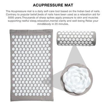 Acupressure Mat Massager Mat Relieve Stress Pain Mat Relief Stress Body Massage Pillow Cushion with