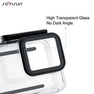 Image 2 - SOONSUN 40m Waterproof Underwater Protective Housing Case with 3 Pack Diving Lens Filter for GoPro Hero 7 Silver/White Go Pro 7