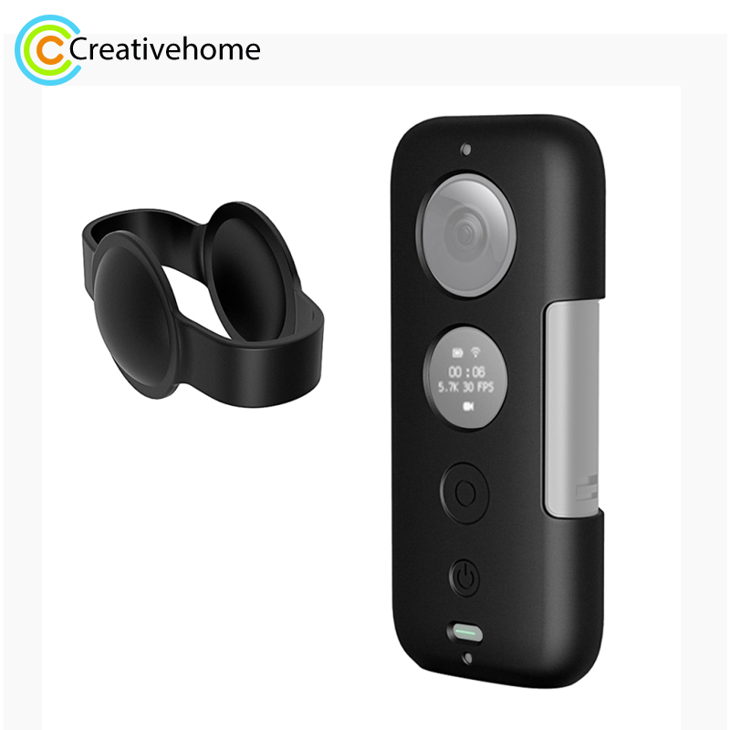 PULUZ Silicone Protective Case With Lens Cover For Insta360 ONE X