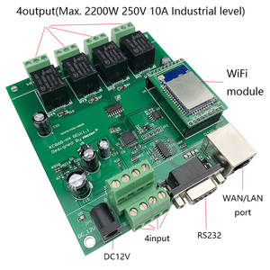 Image 5 - Kincony 4 8 16 32 Gang Industrial Level Smart Home Automation Module Controller System 250V10A WiFi/Ethernet Remote Control PCB