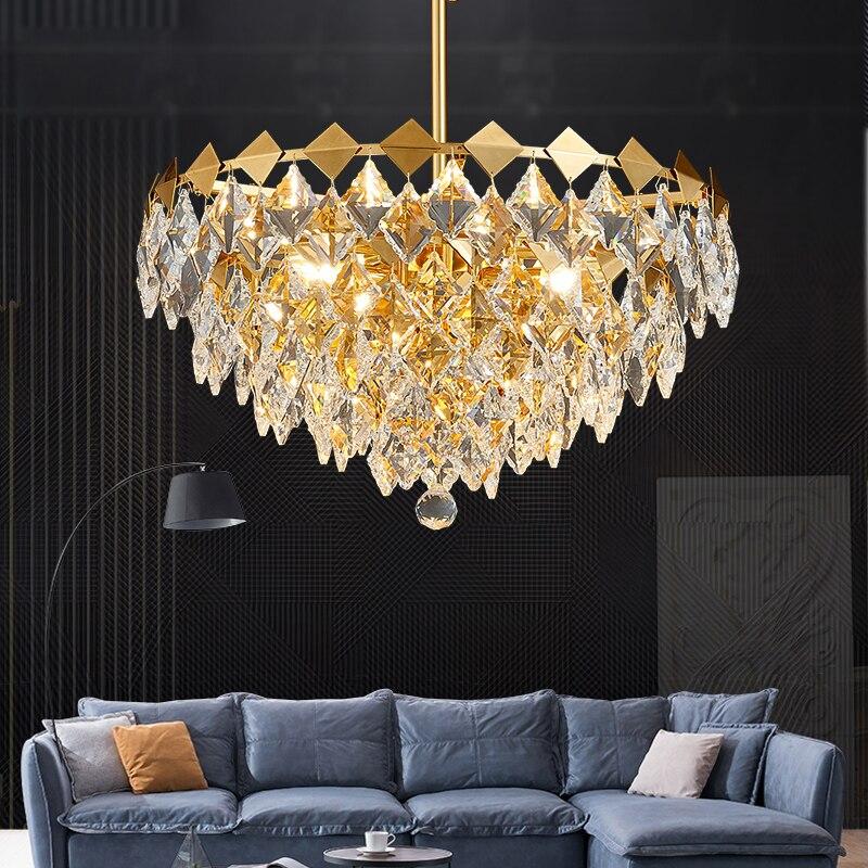 Crystal Light Luxury Chandelier Bedroom Lamp Dining Room After Modern Minimalist Atmosphere Net Red Light Creative Nordic Living