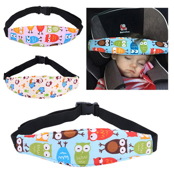 Baby Car Seat Head Pillow Adjustable Children Infant Safety Belt Head Fixing Strap for Baby Pram Stroller image