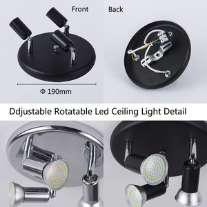 Image 4 - Surface mounted led Ceiling Spotlight 3 Lights rotatable Modern Decoration Lamps for living room bedroom kitchen home lighting