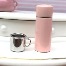 3Pcs Tea Cups Mugs Kit Tableware Dollhouse Kitchenware Miniature Furniture Toys