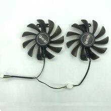 2 pçs/lote gtx1070 gtx1070ti gtx1080 ventilador para kfa2 galaxy geforce gtx 1070 1070ti 1080 exoc snpr substituir de refrigeração
