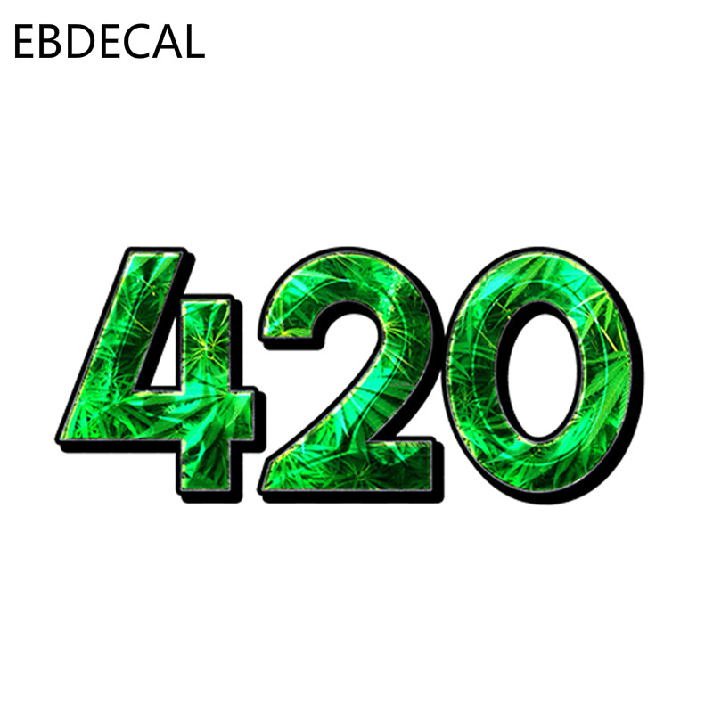 EBdecal 420 Emerald DECAL Bumper  For Auto Car/Bumper/Window/Wall Decal Sticker Decals DIY Decor CT6221