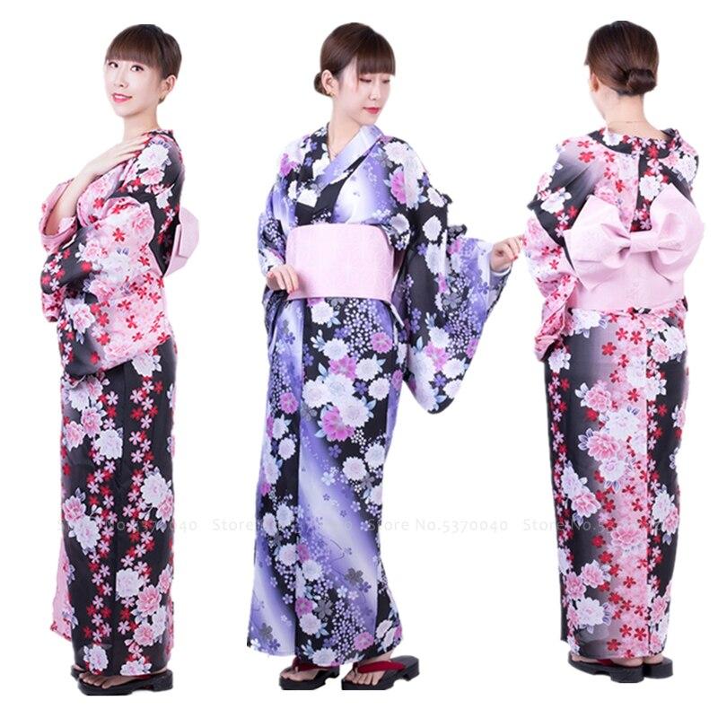 Traditionelle Japanische Yukata Kimono Party Hochzeit Formale Kleid für Frauen Haori Floral Roben Anime Cosplay Kostüme Asiatische Kleidung