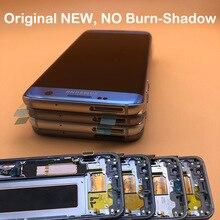لا حرق الظل الأصلي 5.5 Amoled LCD عرض الإطار لسامسونج غالاكسي S7 حافة G935 SM G935F G935FD شاشة LCD محول الأرقام اللمس