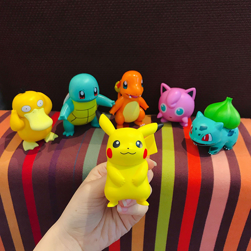 POKEMON Charmander Cleffa Pikachu Bulbasaur Squirtle Psyduck Pocket Monster Poké Model Action Figure One Piece Toy For Kids gift 5