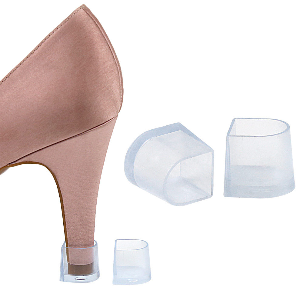 1pairs Heel Protectors High Heeler Antislip Silicone Heel Stopper Latin Stiletto Dancing Cover For Bridal Wedding Party