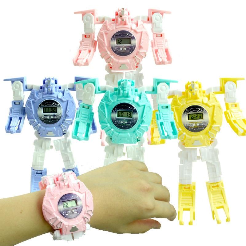 2020 New Kids Transformation Robot Toy Watch Gift For Children