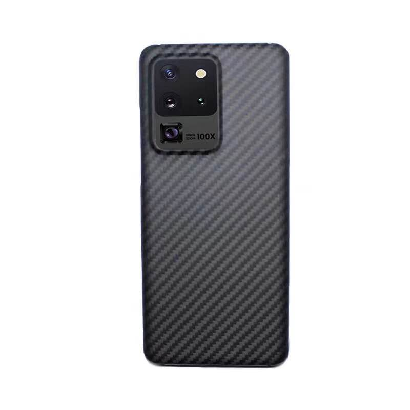 Carbon Fiber Phone Case For Samsung S20 6.2 Galaxy S20plus 6.7 S20ultra 6.9 Light Thin High-Strength Protective Shell